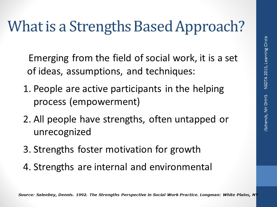 strengths based model and social role valorization srv Social role valorization (srv), as articulated by wolf wolfensberger, phd, is our theoretical base read this informative article by joe osburn that gives a basic introduction to the theory of social role valorization (srv) | pdf (10 pages - 162 k).