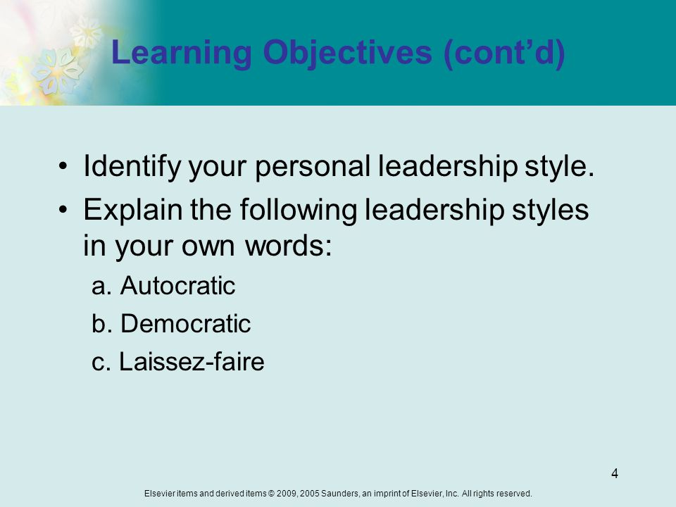 leadership in your own words