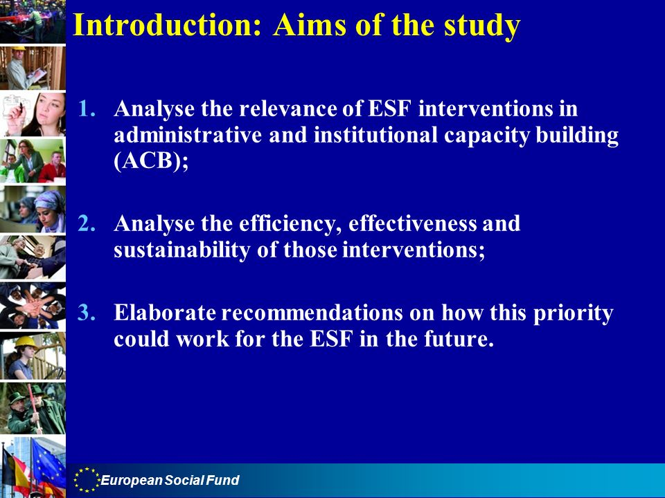 Introduction: Aims of the study