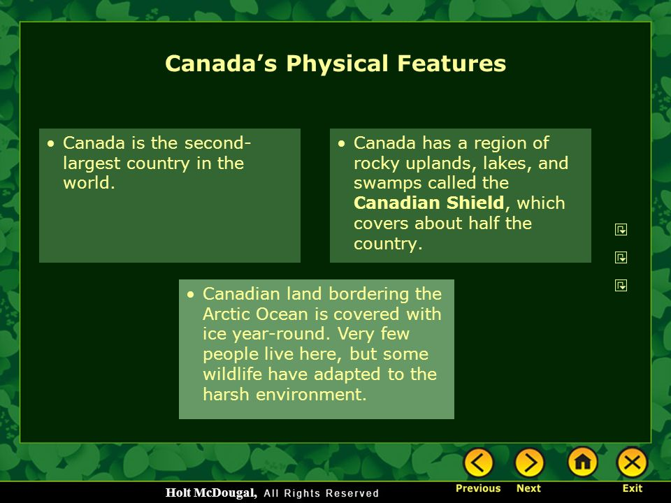 Canada's Physical Features