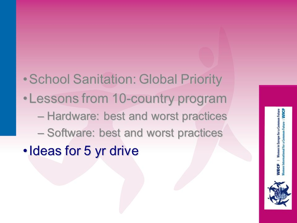 School Sanitation: Global Priority Lessons from 10-country program