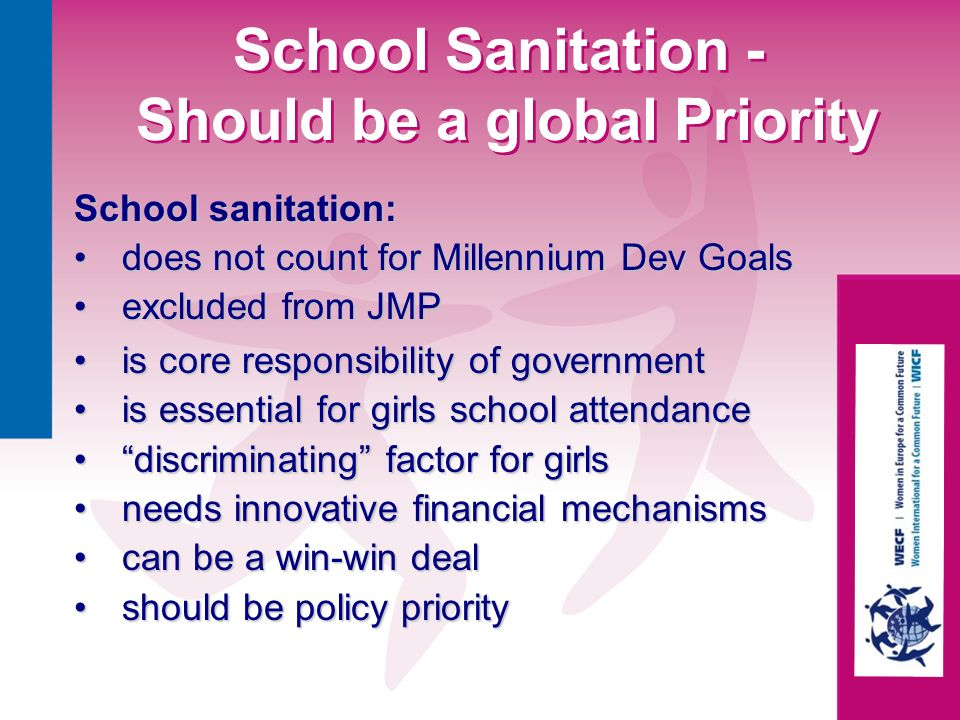 School Sanitation - Should be a global Priority