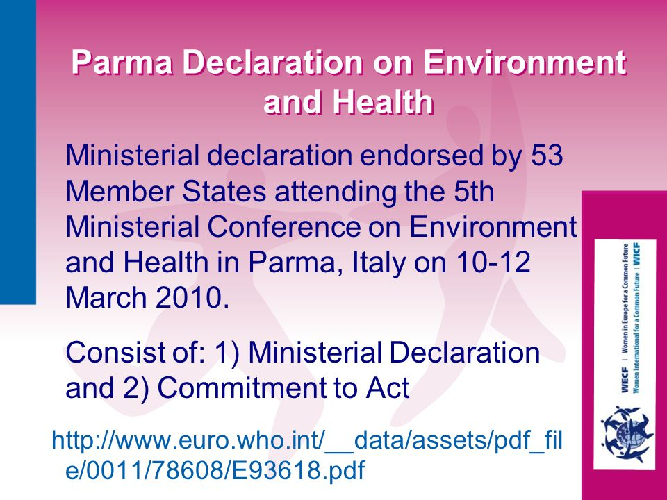 Parma Declaration on Environment and Health