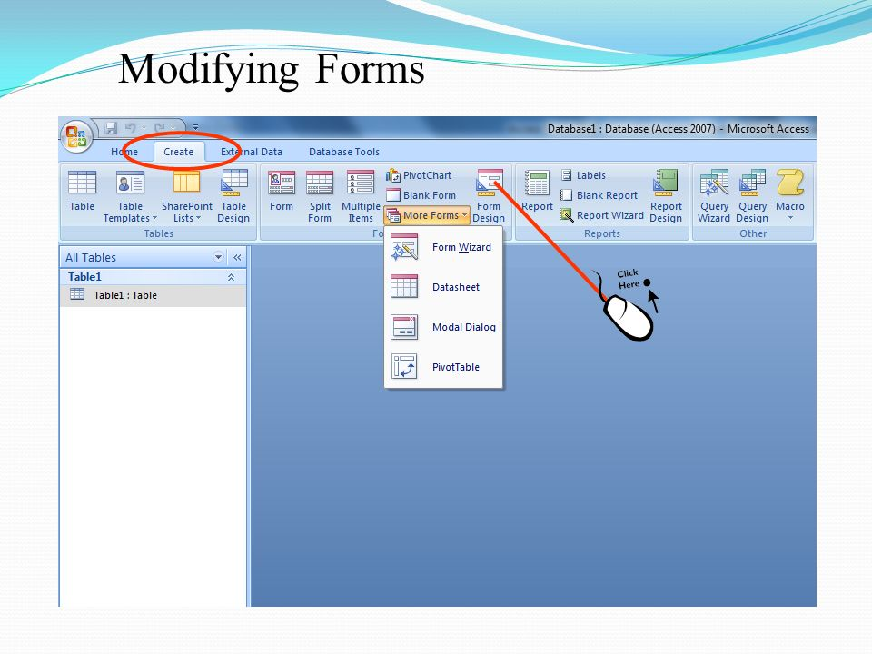 FORMS, CONTROLS and REPORTS In Microsoft ACCESS - ppt download