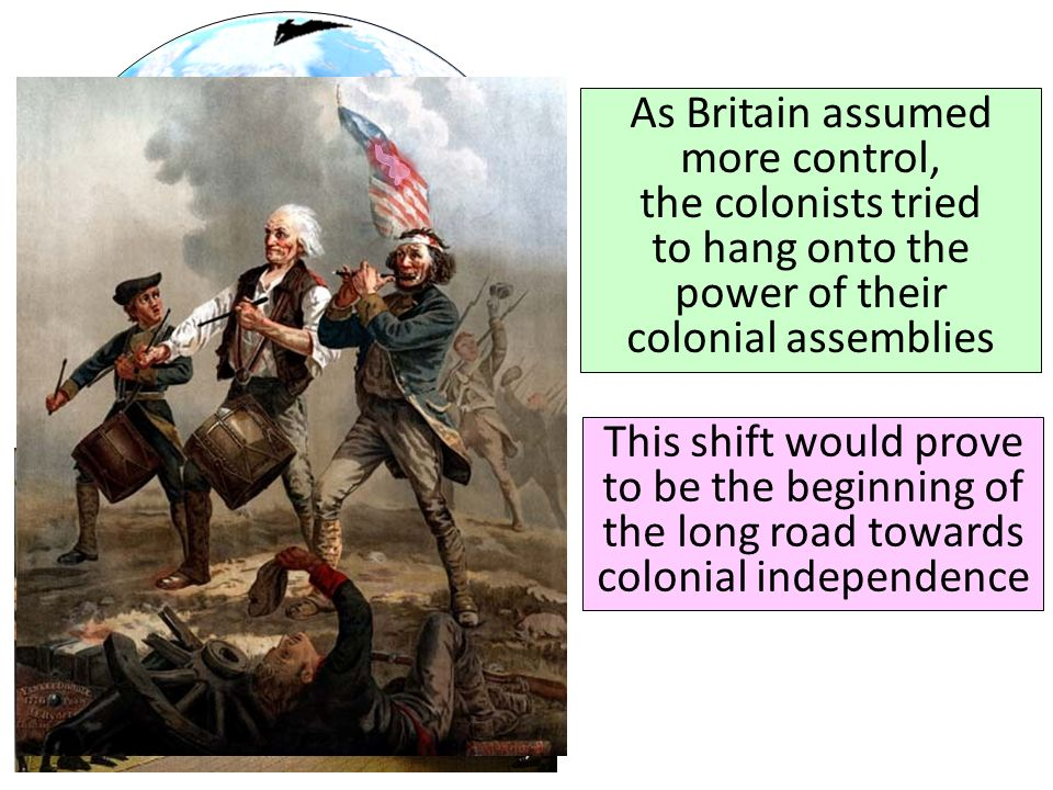 As Britain assumed more control, the colonists tried