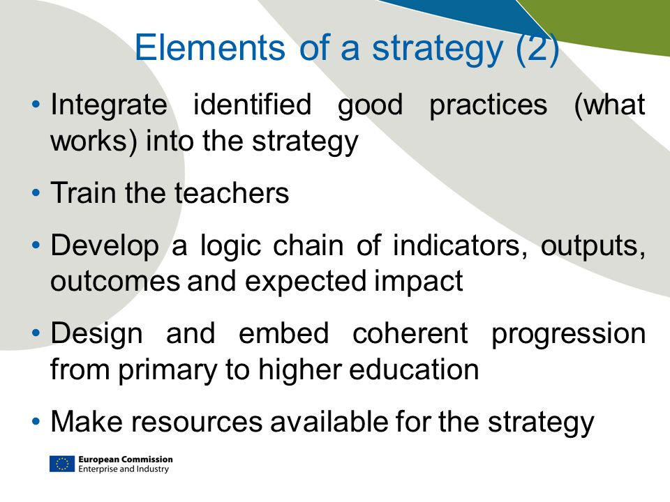 Elements of a strategy (2)