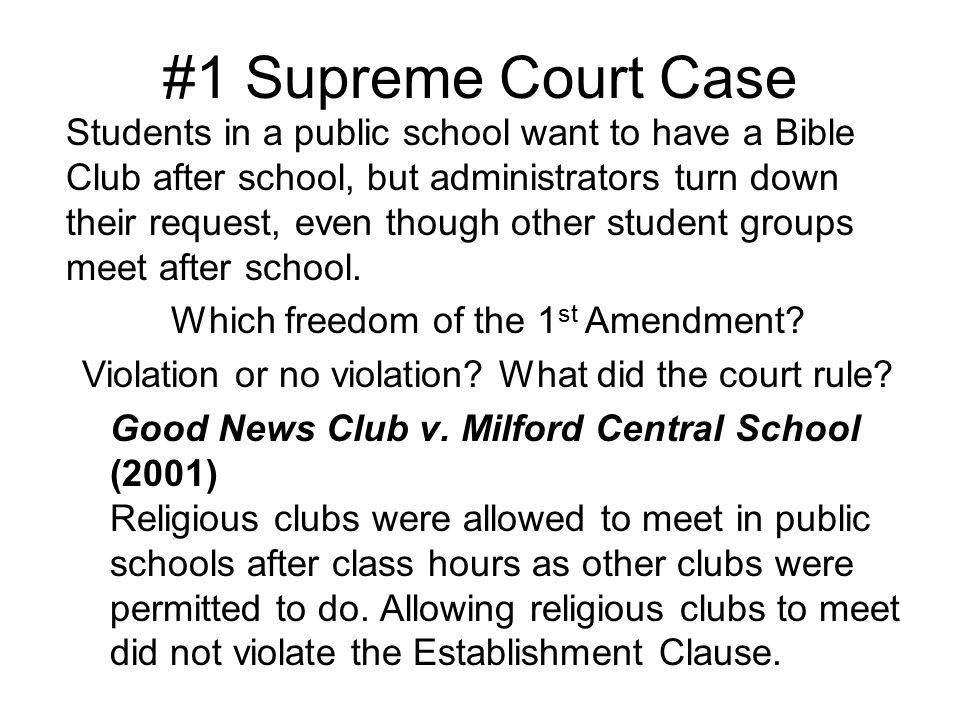 1 Supreme Court Case
