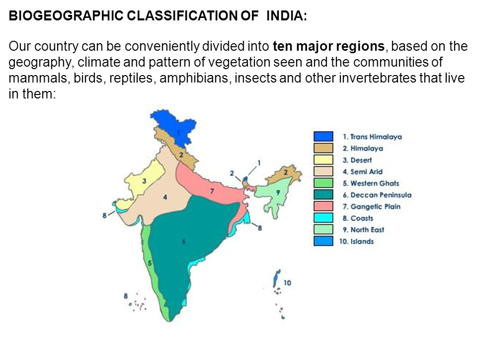 BIOGEOGRAPHIC CLASSIFICATION OF INDIA: