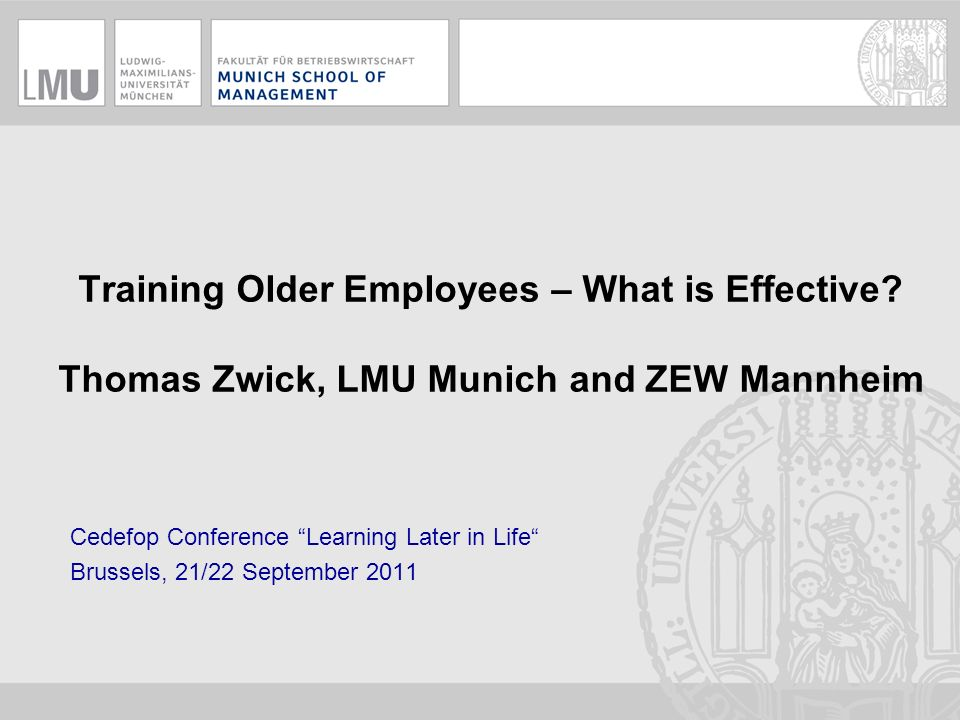 Training Older Employees – What is Effective