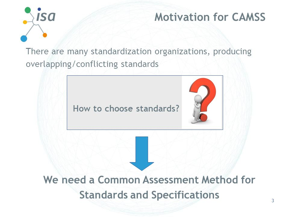 We need a Common Assessment Method for Standards and Specifications