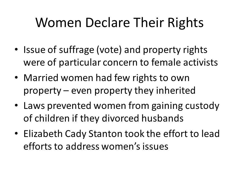 Women Declare Their Rights