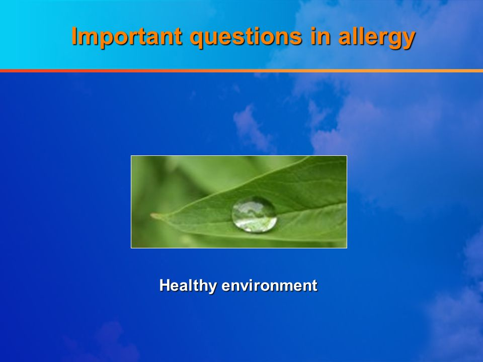 Important questions in allergy