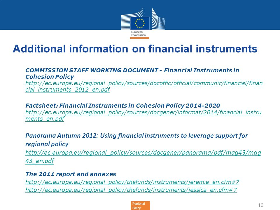 Additional information on financial instruments