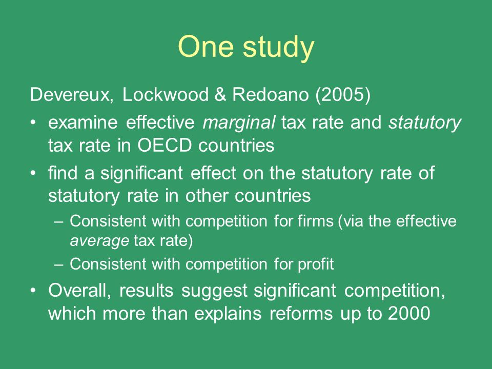 One study Devereux, Lockwood & Redoano (2005)