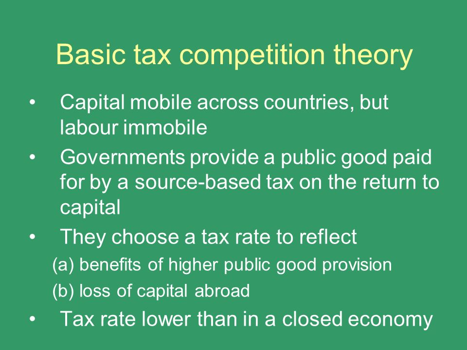 Basic tax competition theory