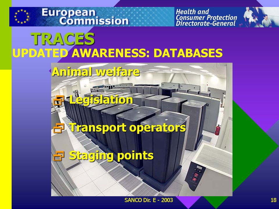 TRACES UPDATED AWARENESS: DATABASES Animal welfare Legislation