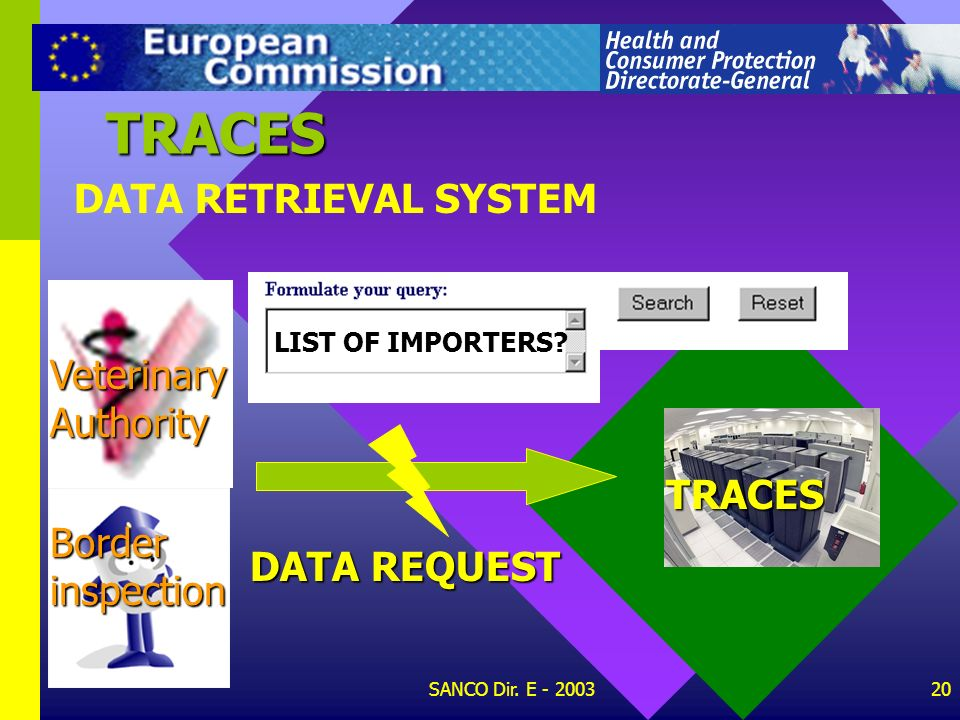 TRACES DATA RETRIEVAL SYSTEM Veterinary Authority TRACES