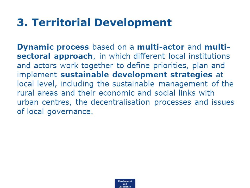 3. Territorial Development