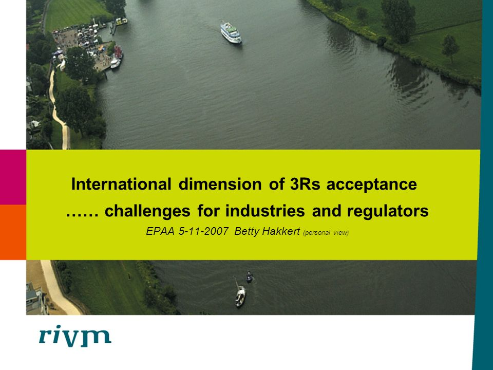 International dimension of 3Rs acceptance