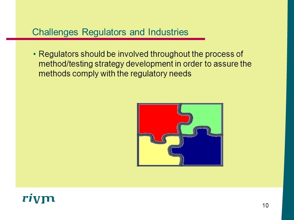 Challenges Regulators and Industries