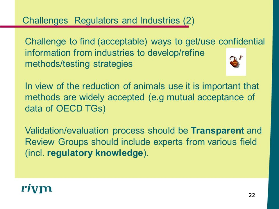 Challenges Regulators and Industries (2)
