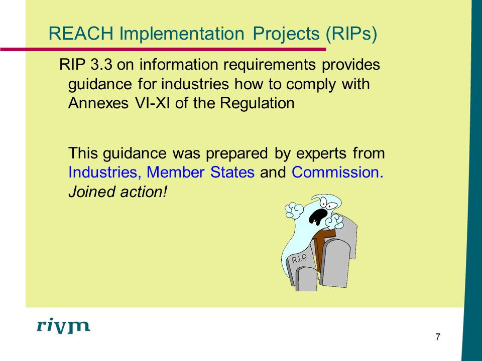 REACH Implementation Projects (RIPs)