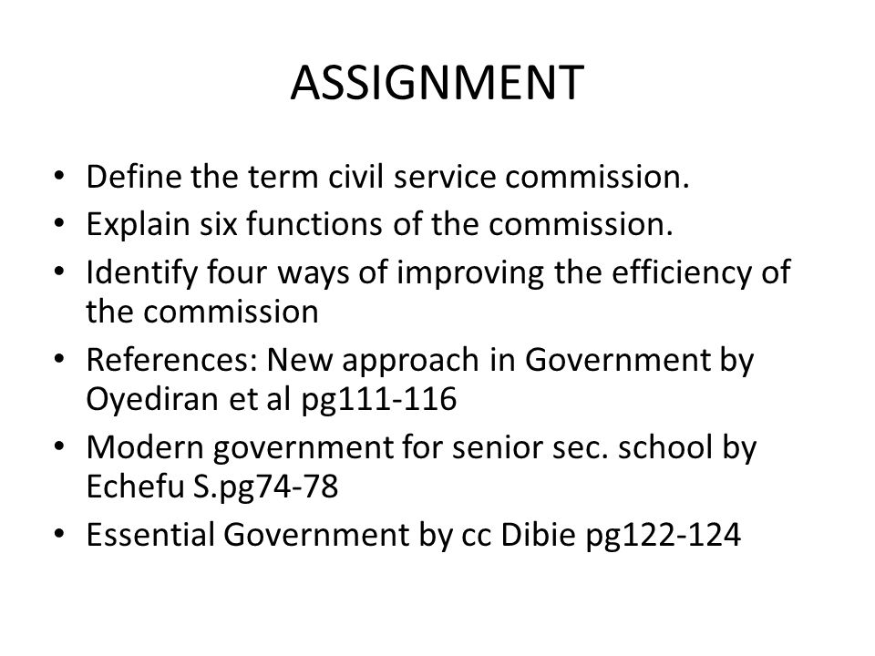 WEEK 4: SS2 GOVERNMENT: CIVIL SERVICE COMMISSION - ppt video