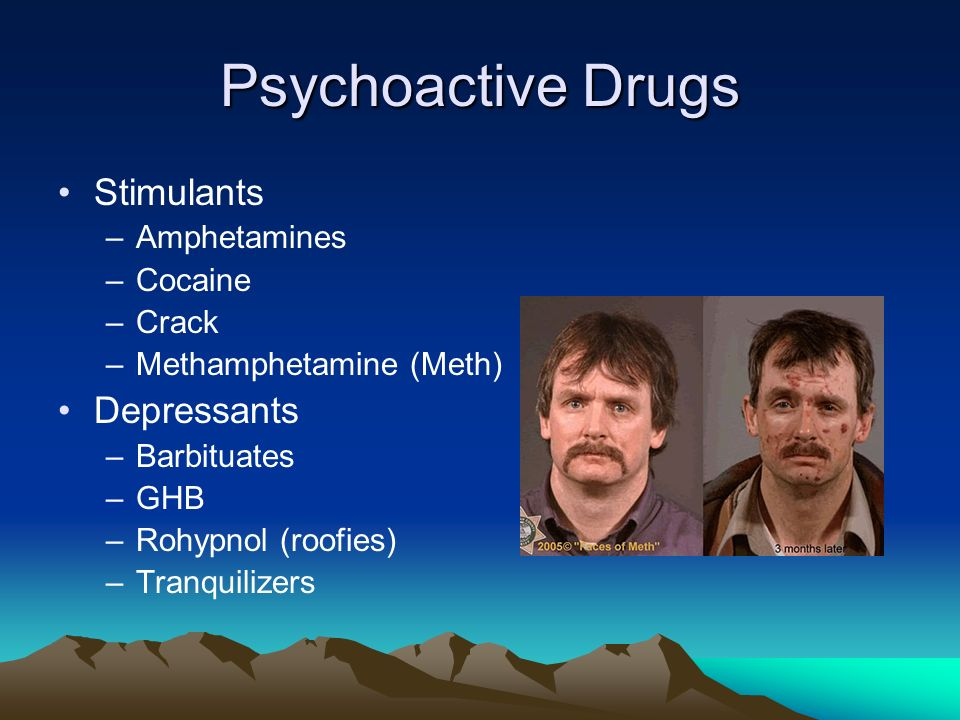 Psychoactive Drugs Stimulants Depressants Amphetamines Cocaine Crack