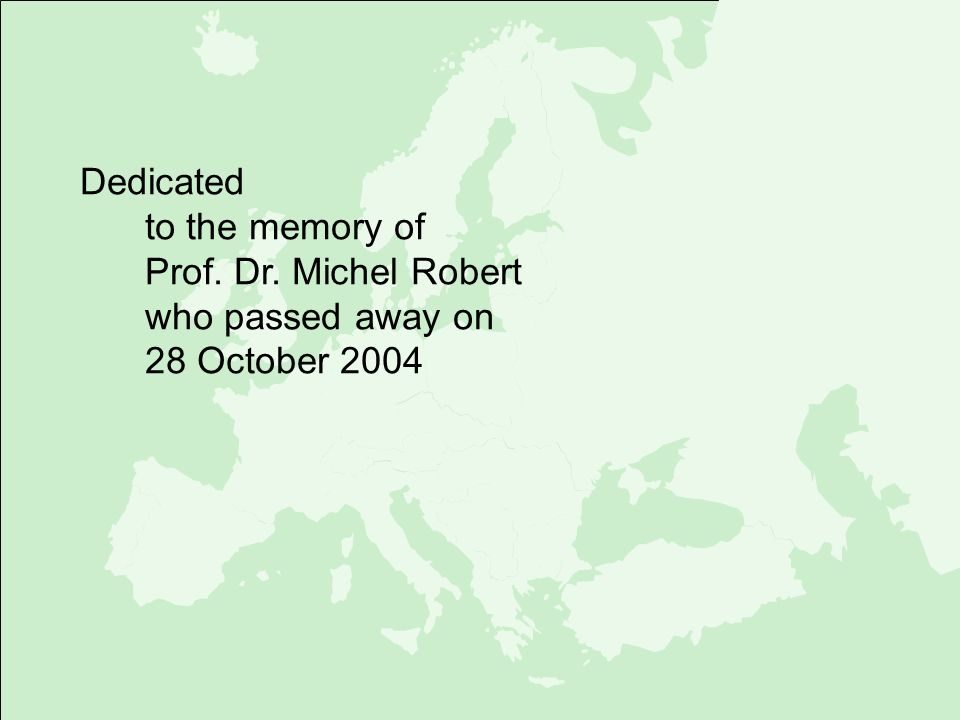 Dedicated to the memory of Prof. Dr. Michel Robert who passed away on 28 October 2004