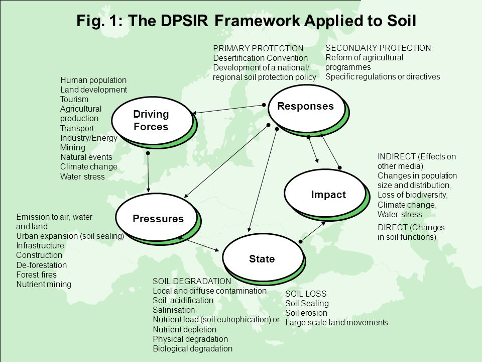 Fig. 1: The DPSIR Framework Applied to Soil