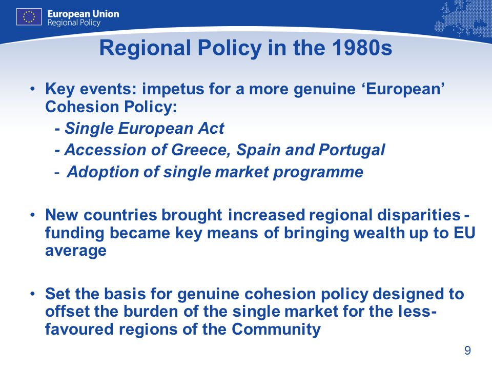 Regional Policy in the 1980s