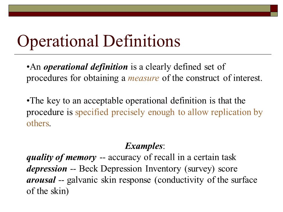 Examples Of Operational Definitions Choice Image Example Cover