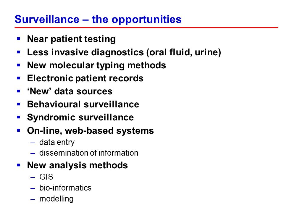 Principles of Surveillance - ppt download