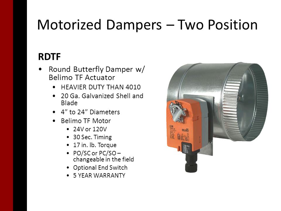 Single-Point Zoning Damper Choices - ppt download