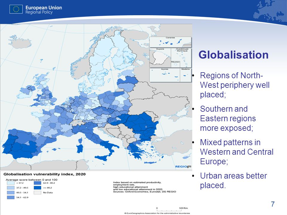 Globalisation Regions of North-West periphery well placed;