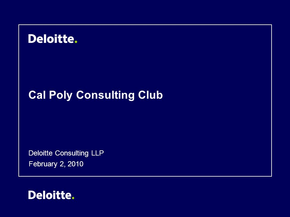 Cal Poly Consulting Club - ppt download