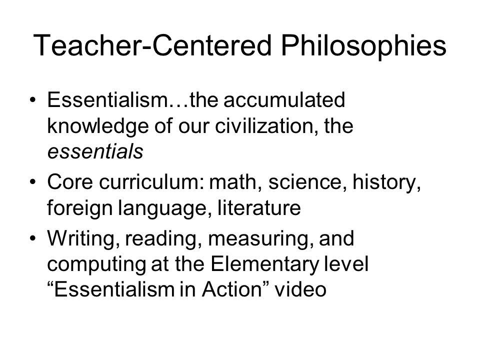 essentialism philosophy of education