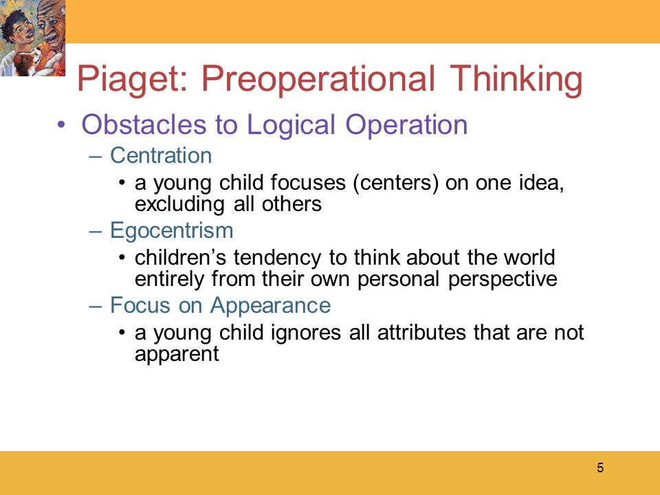 pre operational thinking