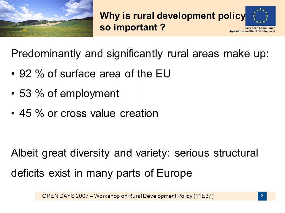 Why is rural development policy so important