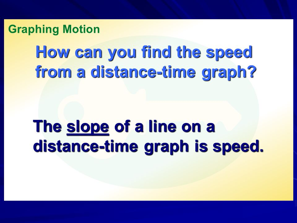 How can you find the speed from a distance-time graph