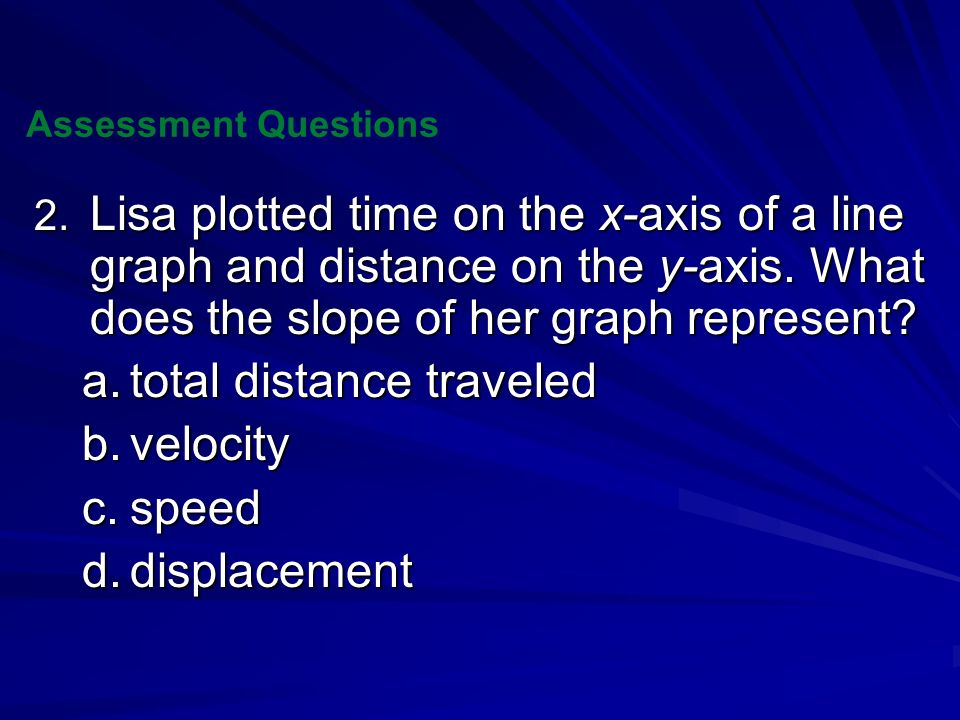 total distance traveled velocity speed displacement