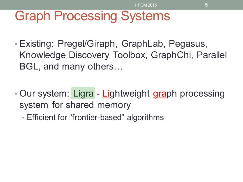 Graph Processing Systems