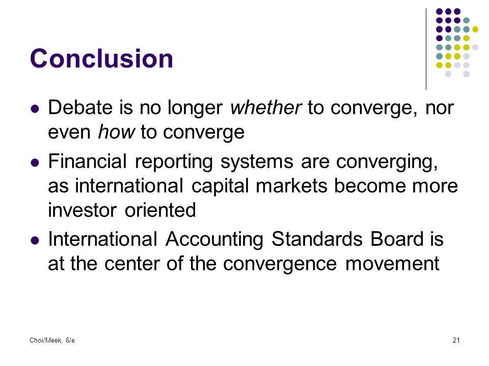 conclusion of accounting concepts