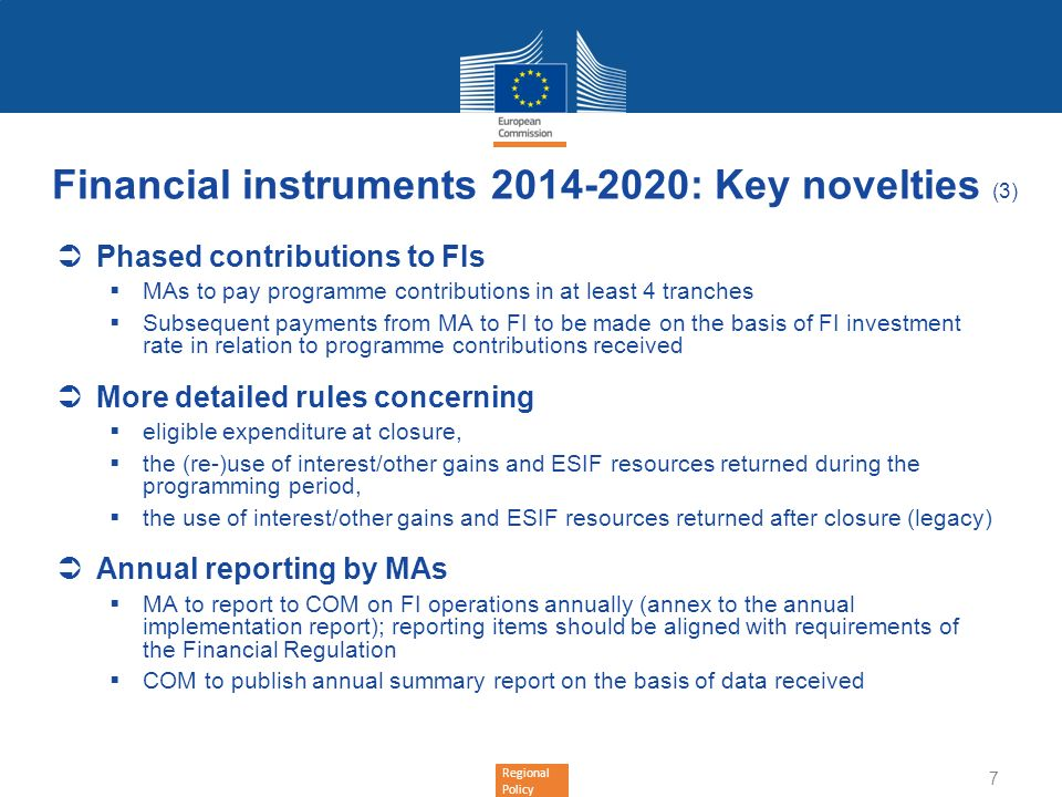 Financial instruments : Key novelties (3)
