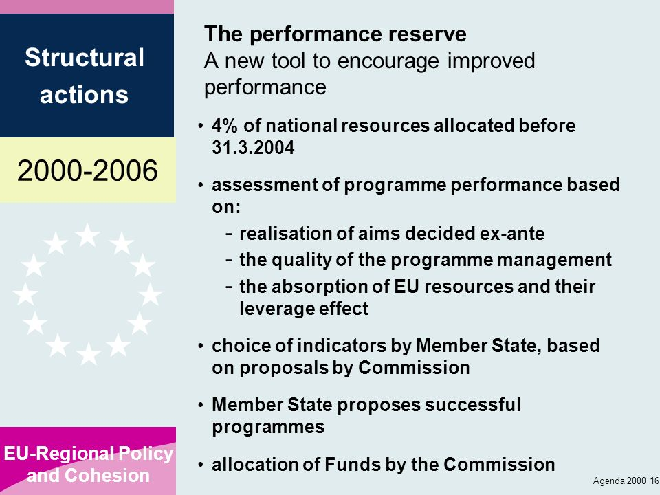 The performance reserve A new tool to encourage improved performance