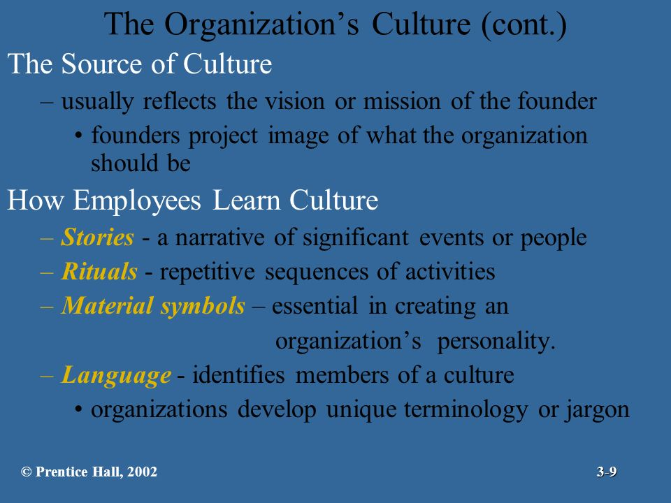 Chapter 3 Organizational Culture And Environment The Constraints