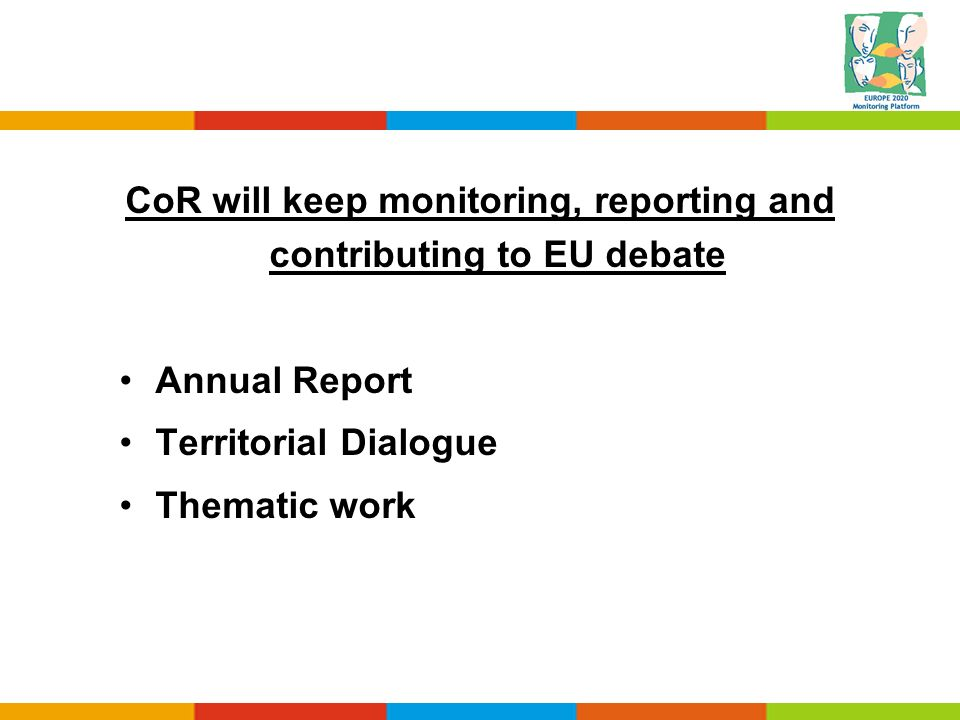 CoR will keep monitoring, reporting and contributing to EU debate