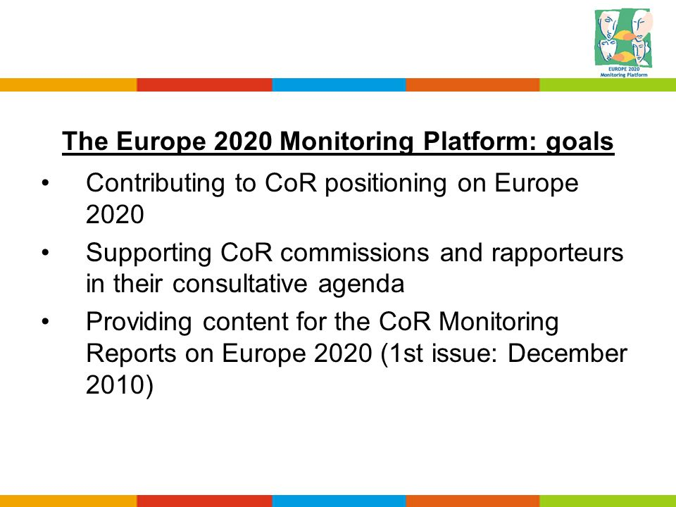 The Europe 2020 Monitoring Platform: goals