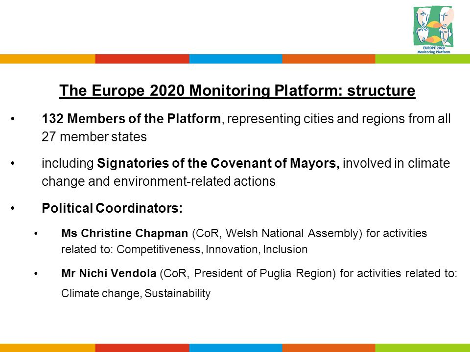 The Europe 2020 Monitoring Platform: structure