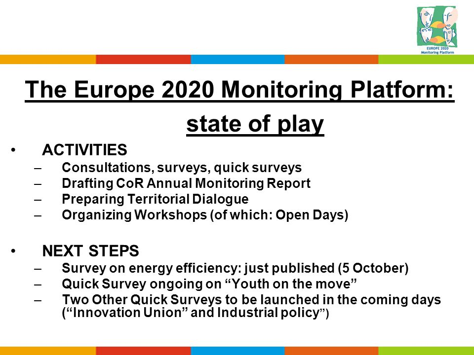 The Europe 2020 Monitoring Platform: state of play